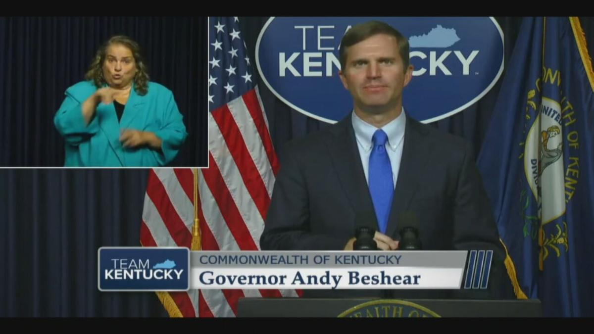 Gov. Andy Beshear speaks during COVID-19 address on 9/10/20