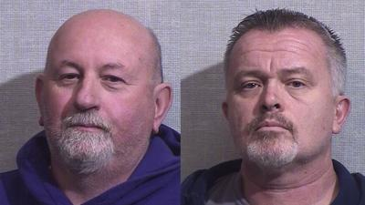 Bill Abbott and Carl Lamb mugshots