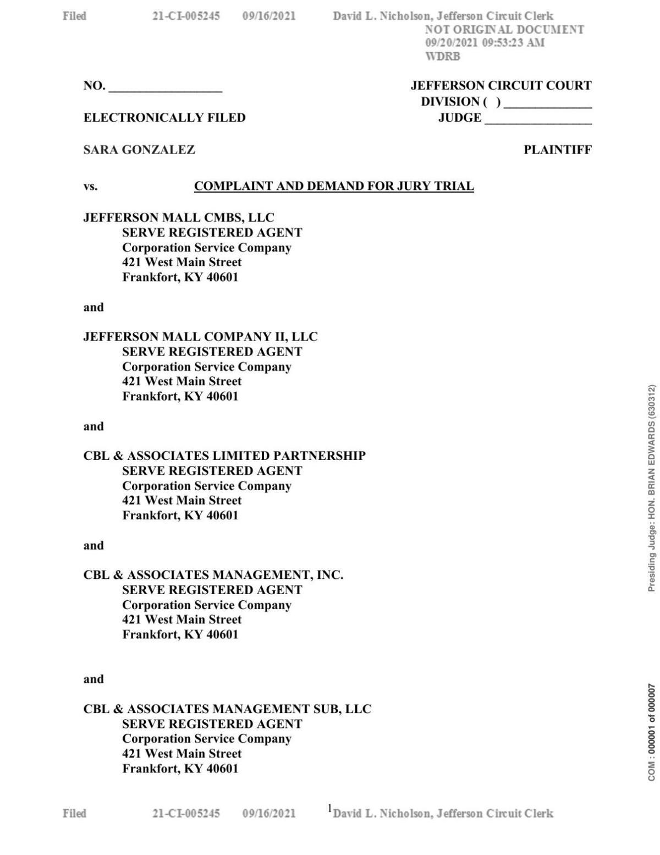 J Mall lawsuit shooting Sept 20, 2021