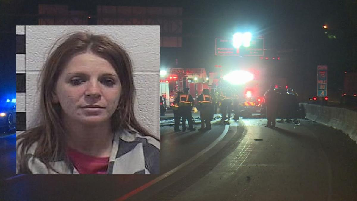 Tammy Rodriguez mugshot and scene of fatal crash