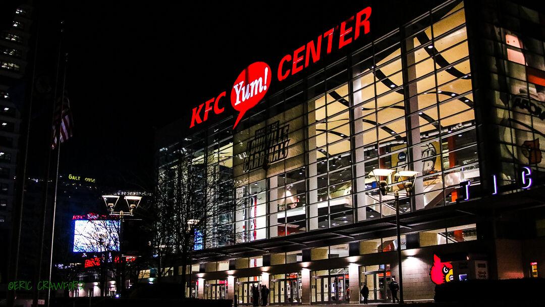 KFC Yum! Center at night