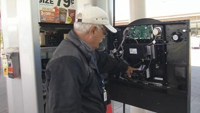 Gas station pump interior