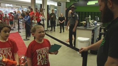 Surprise party thrown for 7-year-old Louisville boy with brain tumor