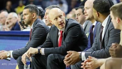 Chris Mack on bench