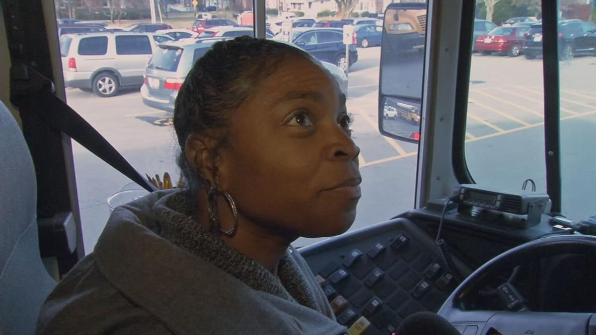 """Bus driver Jeanetta Carr, a.k.a. """"Miss J"""""""