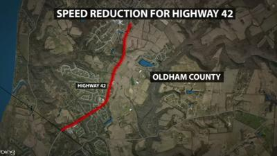 Speed limit reduction for U.S. Hwy. 42