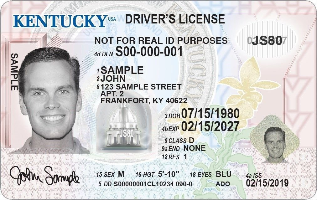 New Kentucky 'standard' driver's license