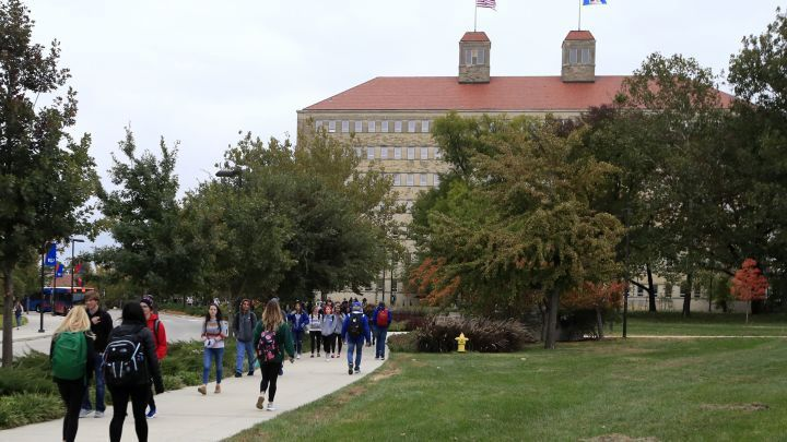 Students on University of Kansas Campus via AP