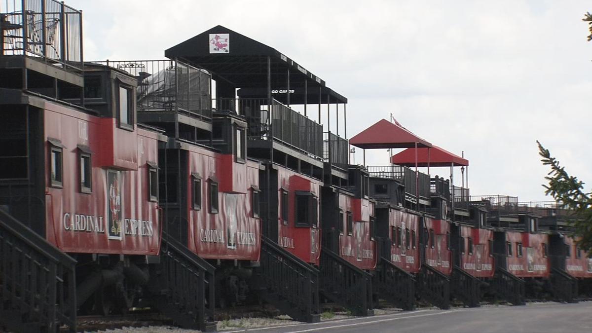 'Cardinal Express' train cabooses