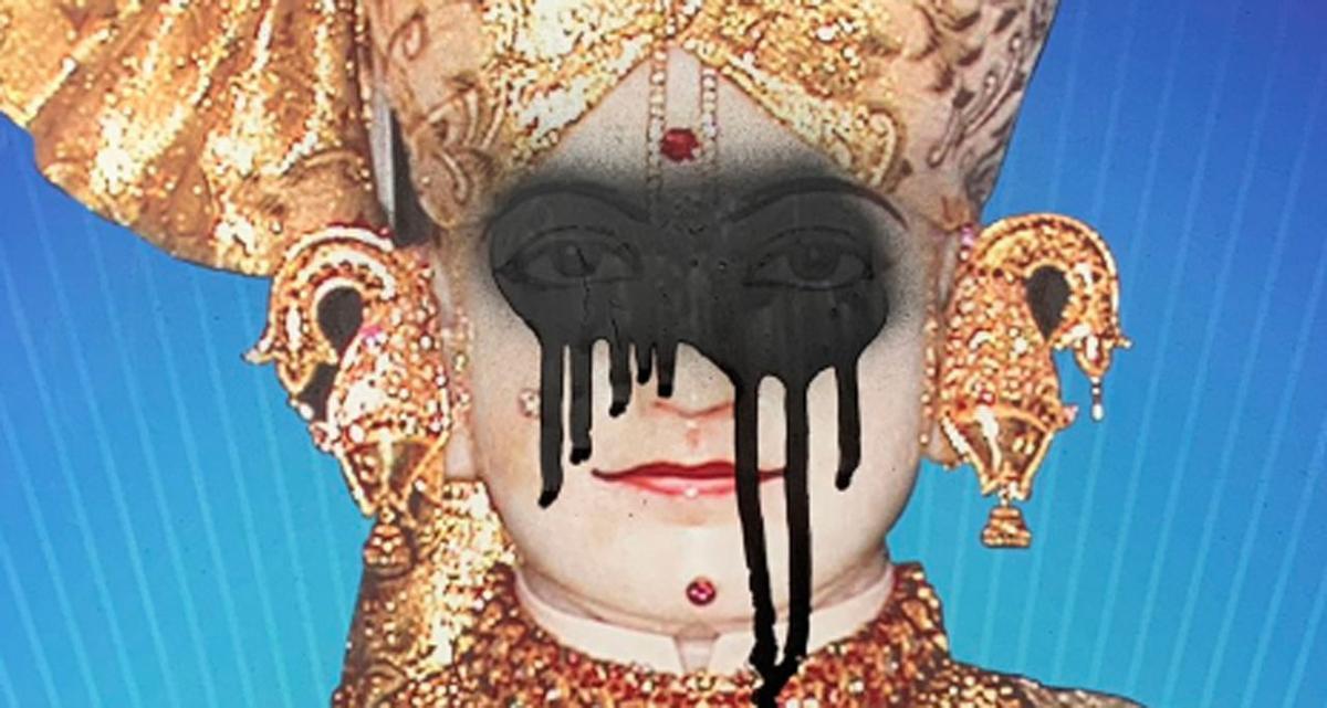 Swaminarayan Temple vandalism 1-30-19