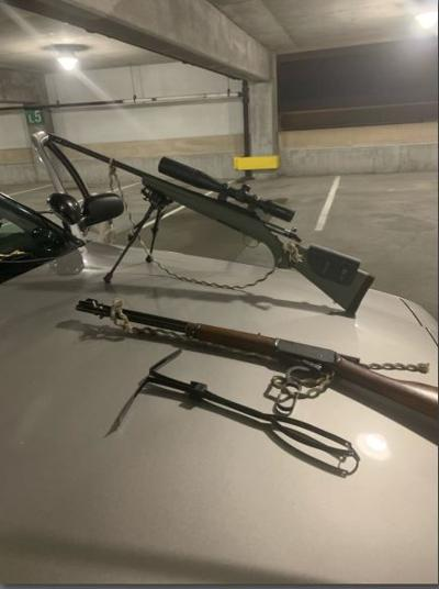 Guns confiscated by LMPD from downtown parking garage