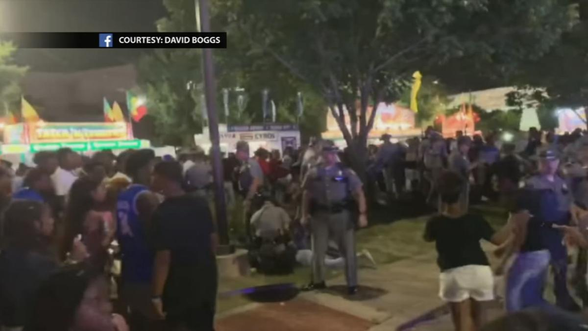 Panic at the Kentucky State Fair after shot fired on Saturday, Aug. 17, 2019