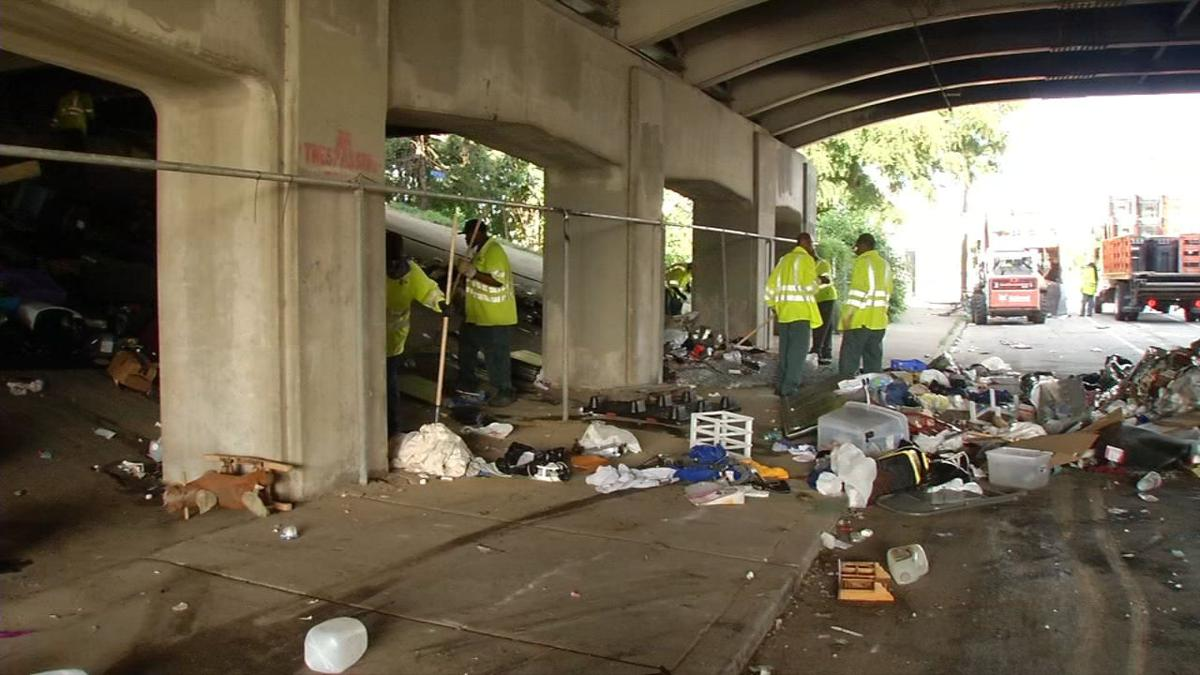 Homeless forced to relocate as Louisville cleans out camps