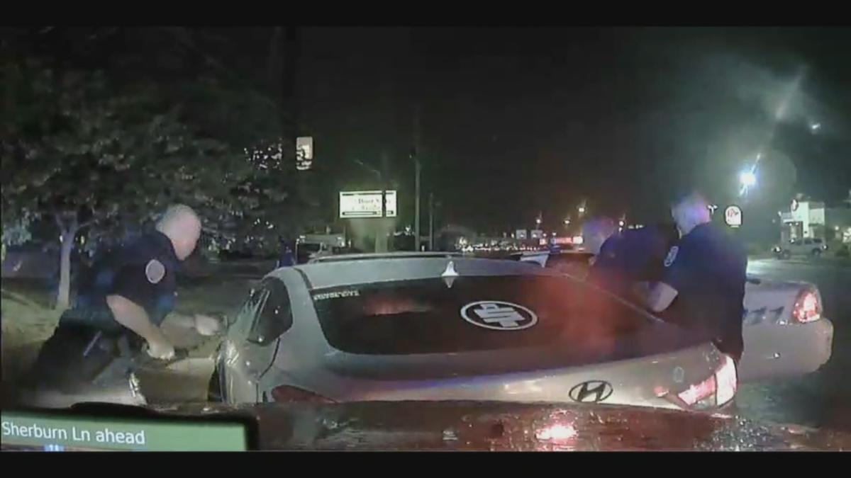 Video of police confronting man driving down wrong side of road in St. Matthews