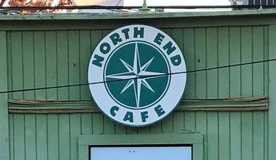 North End Cafe Sign on Building