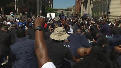 Demonstrator at peaceful protest - Saturday, June 6, 2020