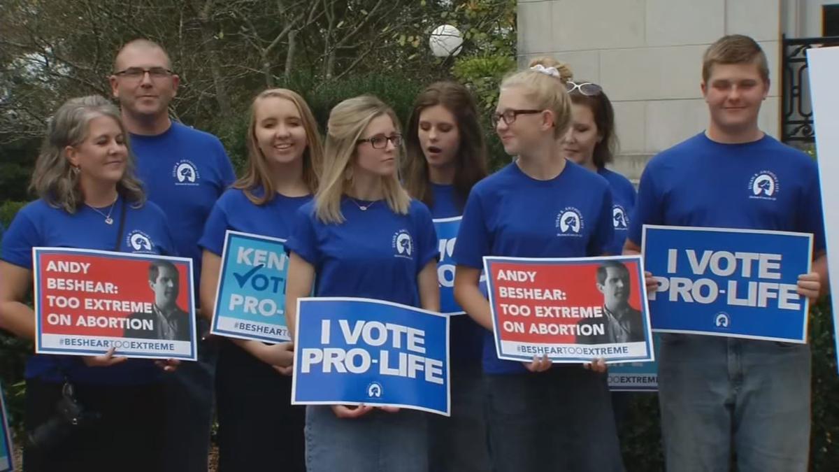 Pro-life advocates in Frankfort, Kentucky (abortion debate)