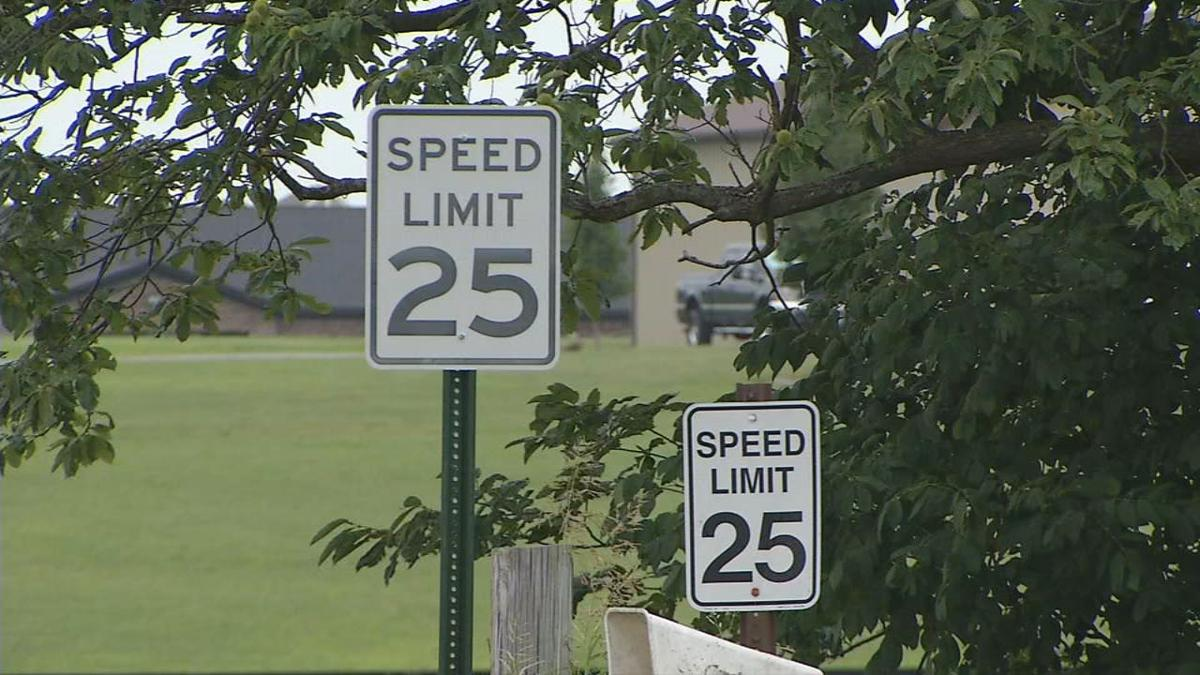 Hillview speed limit sign