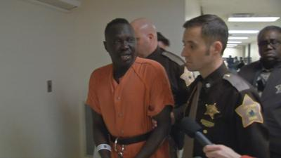 Man accused of killing wife in front of teen daughter appears in Clark County court
