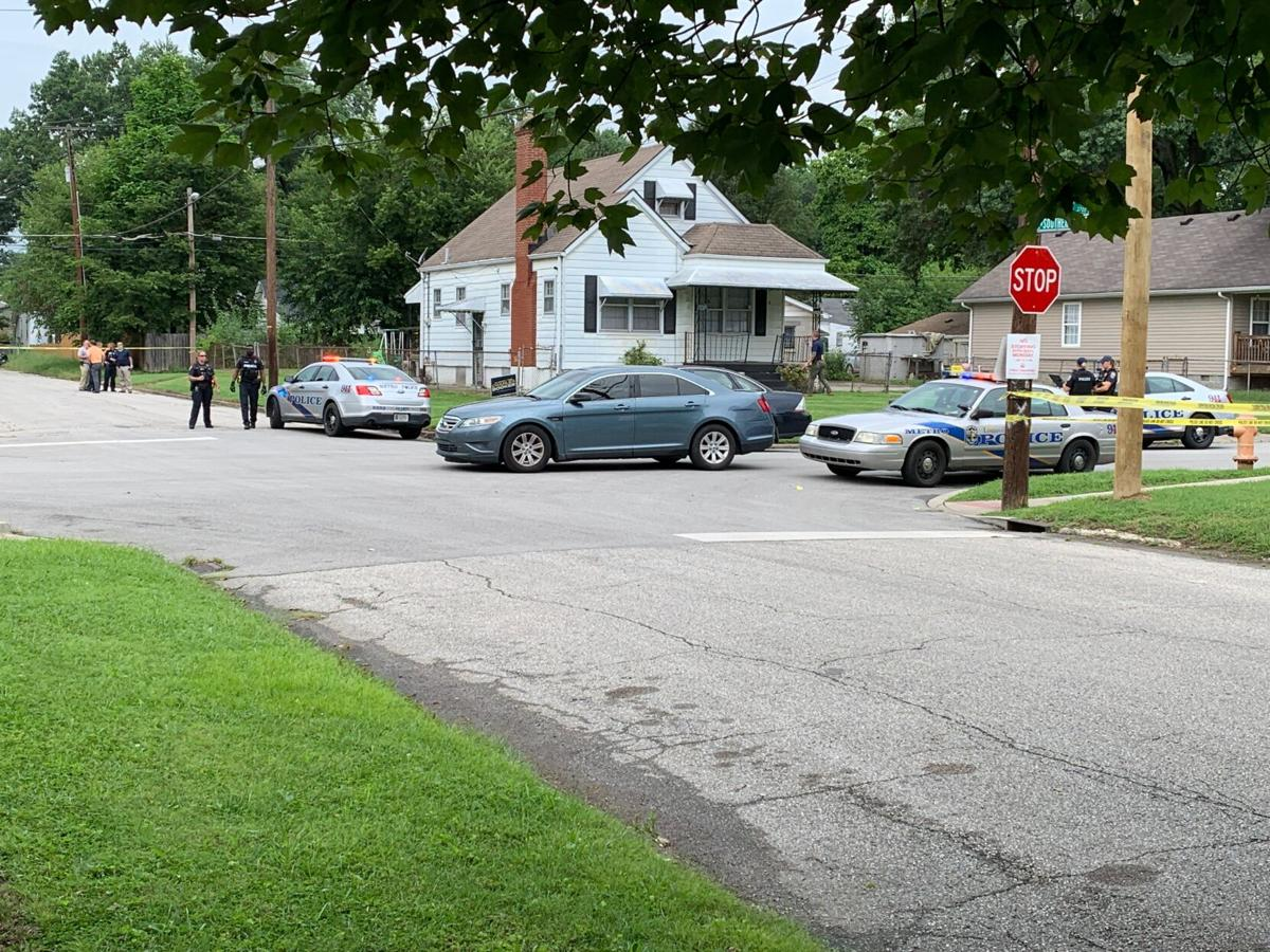 Shooting Scene: 7300 block of Kahlert Avenue where adult, child shot on Aug. 14, 2020
