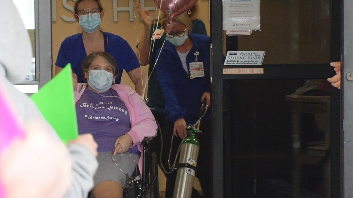 Brianna Heitzman, COVID-19 survivor, leaving Baptist Health Louisville on March 26