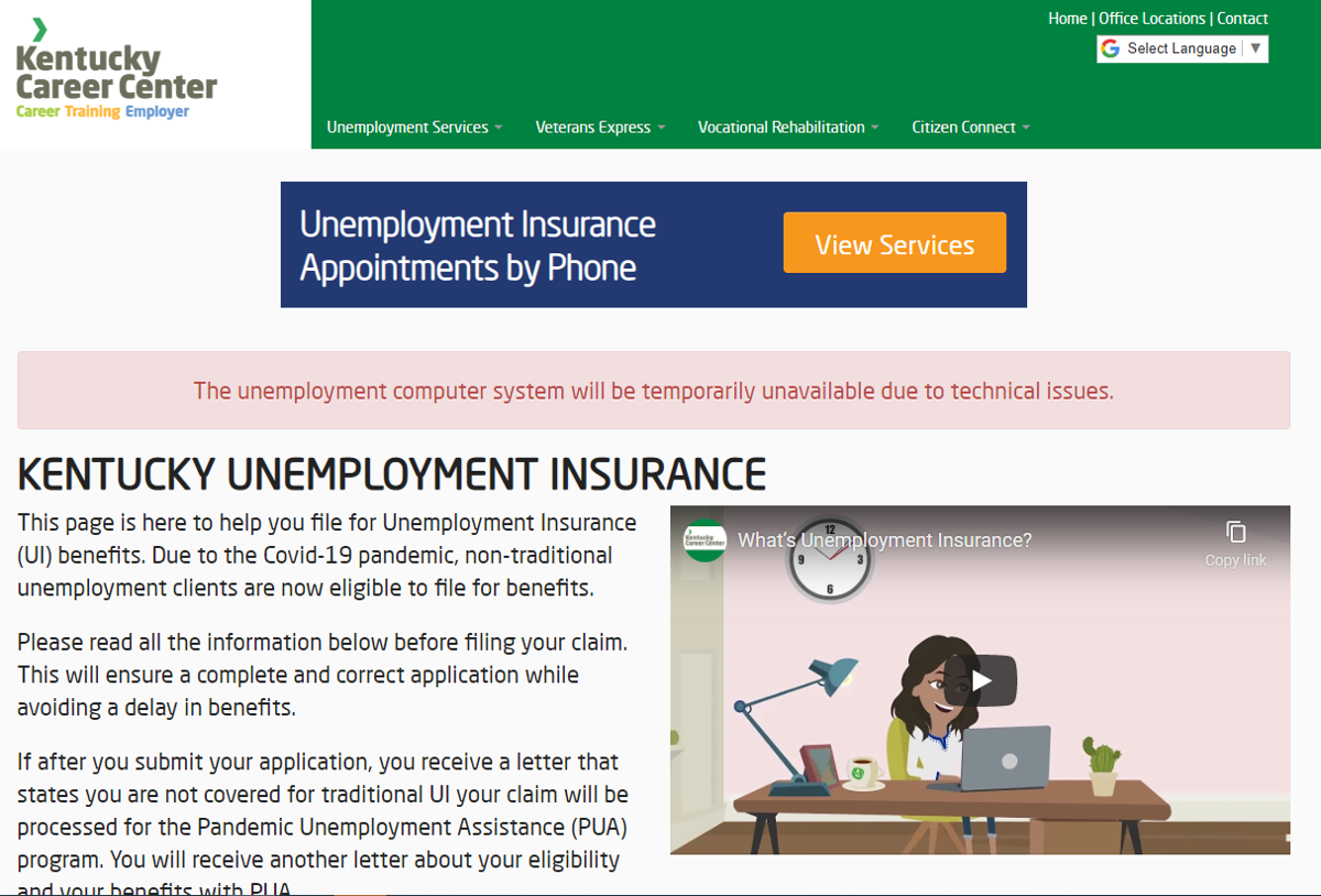KY unemployment website down due to 'cyberattack'