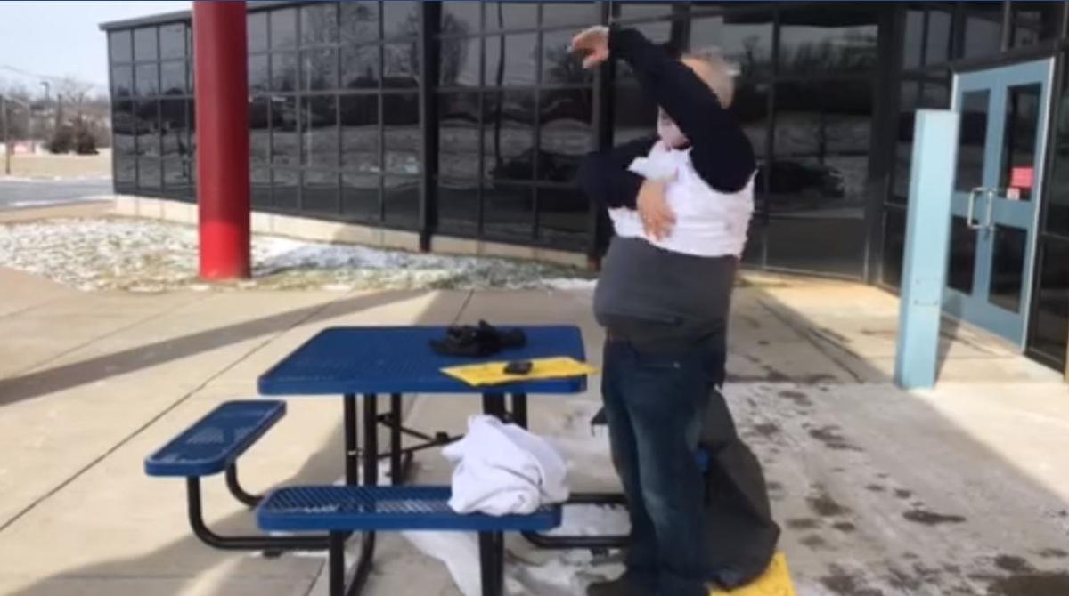 Lexington principal sheds layers in Facebook video on winter weather