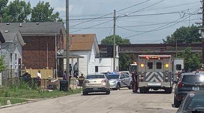 Scene of July 8, 2021 shooting in 200 block of S. 23rd Street, Louisville