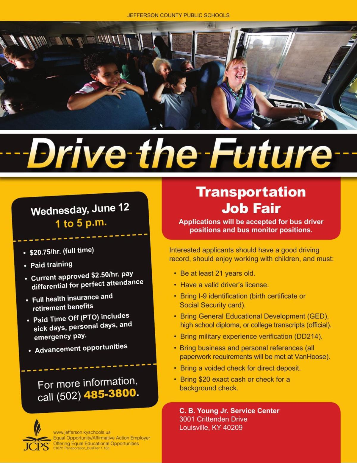 JCPS transportation bus flier