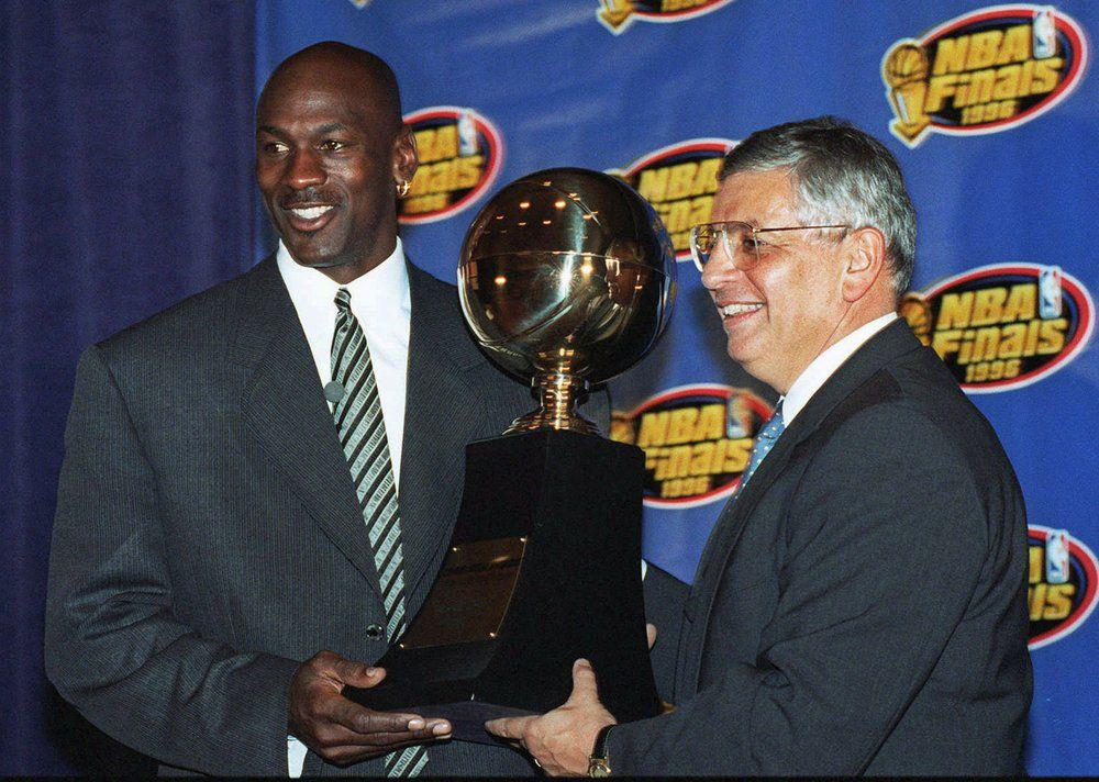 Michael Jordan and David Stern