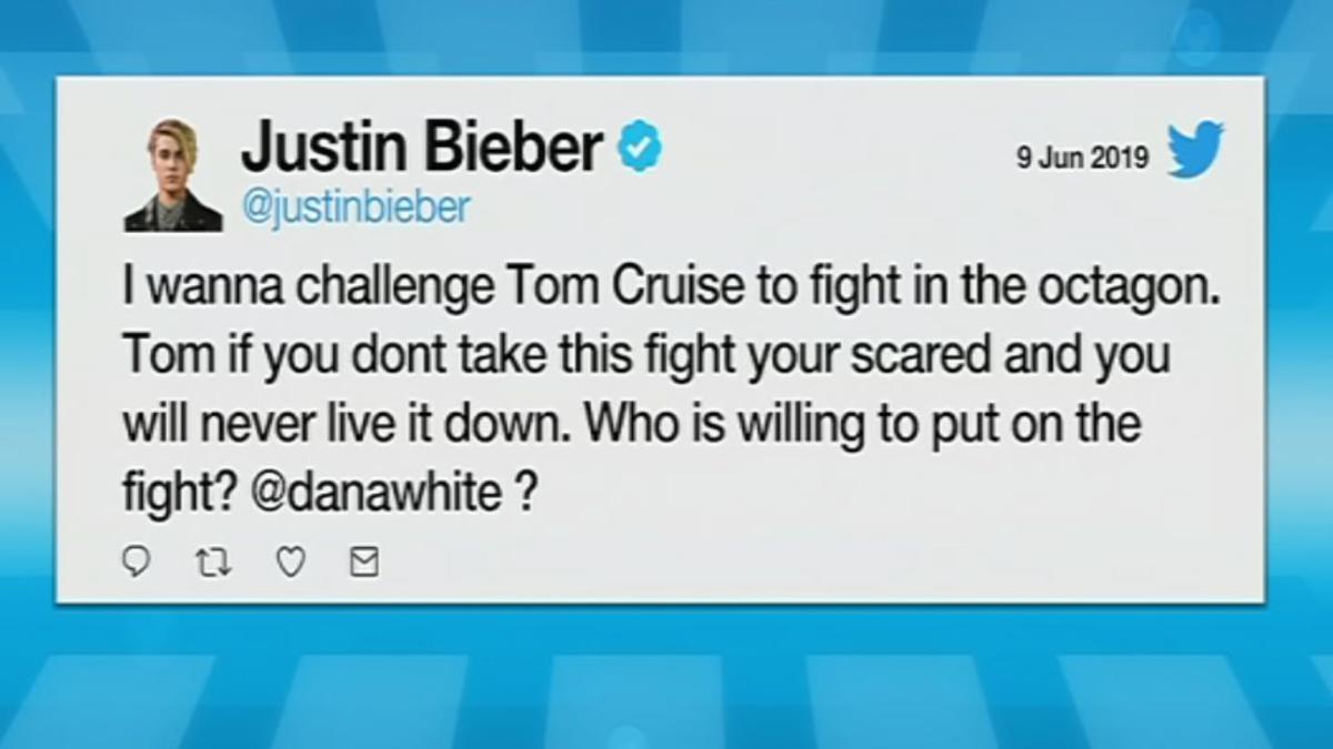 Bieber Challenges Cruise