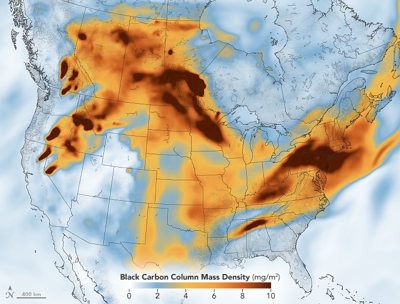 BLACK CARBON Particulates In High Concentration Across North America...
