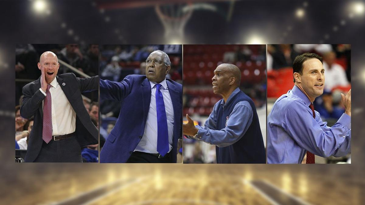Kevin Willard, Tubby Smith, Mike Davis and Darrin Horn