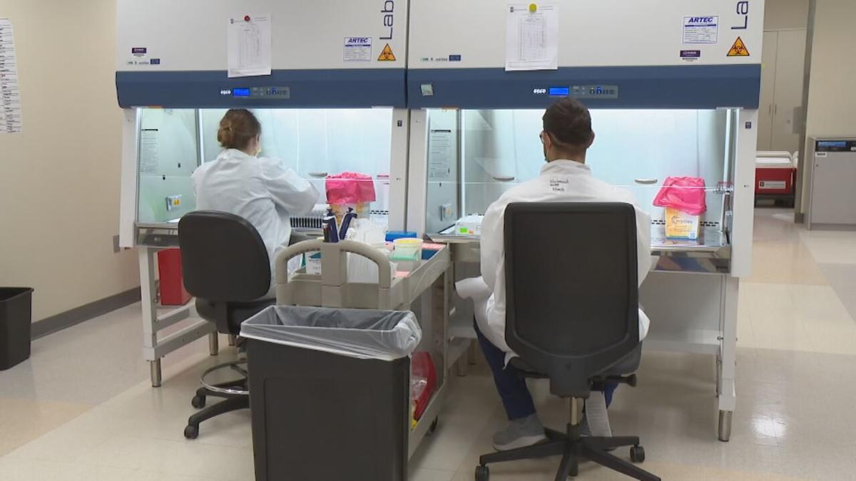 Workers at IU Health's Pathology Lab are working around the clock to process COVID-19 tests