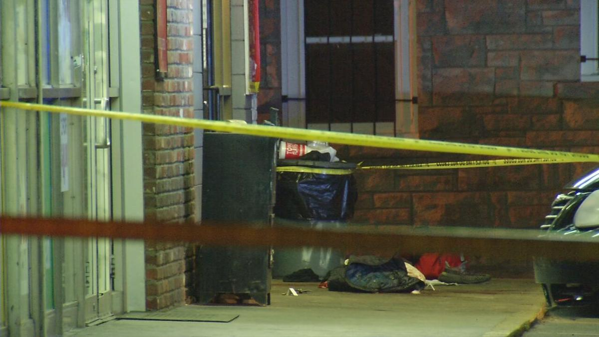 The scene of a fatal shooting on March 26, 2021, in Shively.