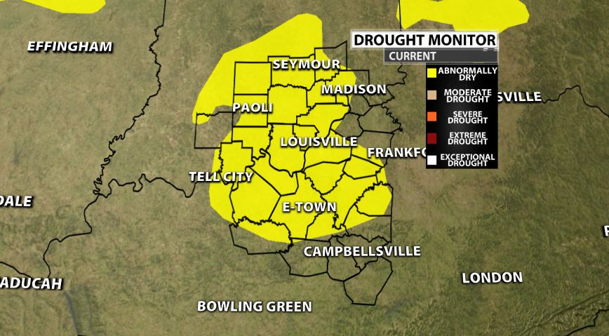Drought Monitor: Abnormally Dry | Weather Blog | wdrb com