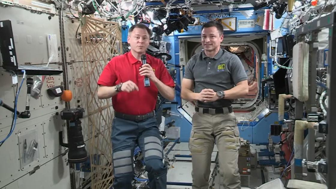 Students at Kentucky Science Center chat live with astronauts on the International Space Station