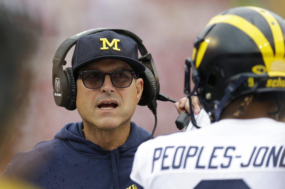 Michigan head coach Jim Harbaugh