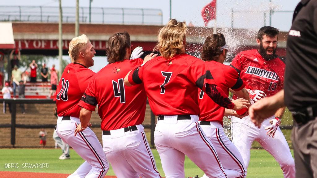 Louisville baseball celebration