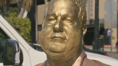 Statue of disgraced Harvey Weinstein unveiled in Los Angeles