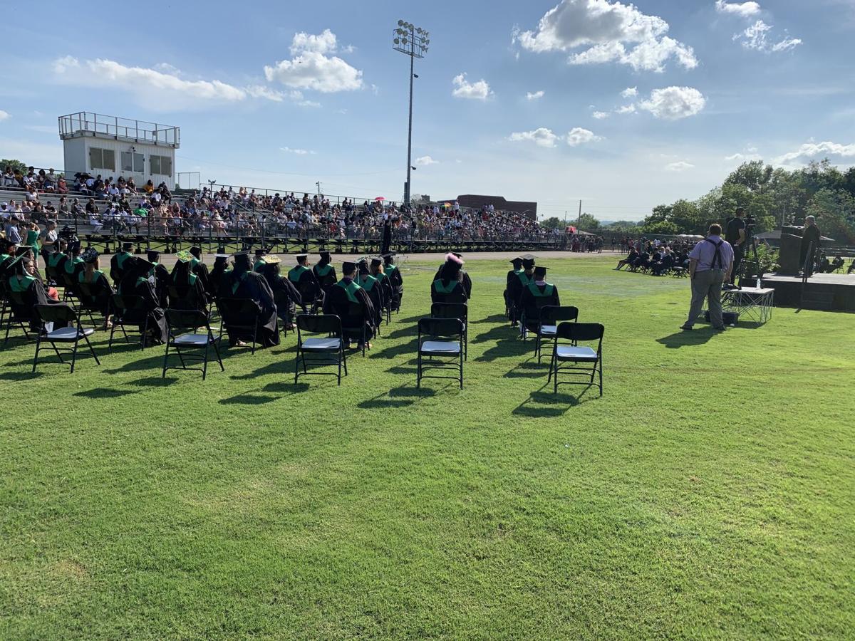Western High graduation stands.jpg