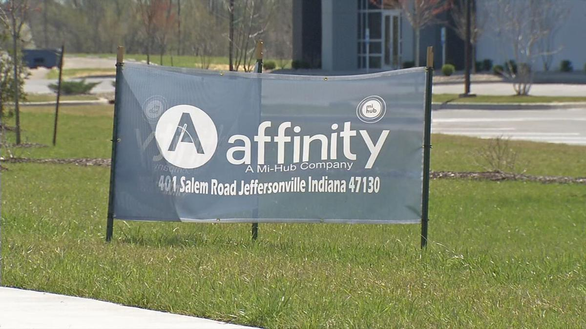 Affinity sign in River Ridge Commerce Center