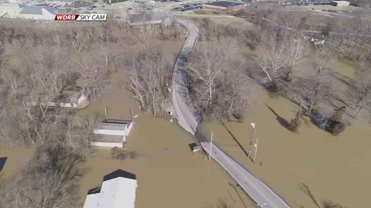 Blackiston Mill Road Flooding Sky Cam - 2-13-19