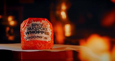 Burger King Whopper in Japan designed to ward off evil spirits
