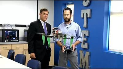 Mercy Academy using drones, robots and 3D printers to teach students.