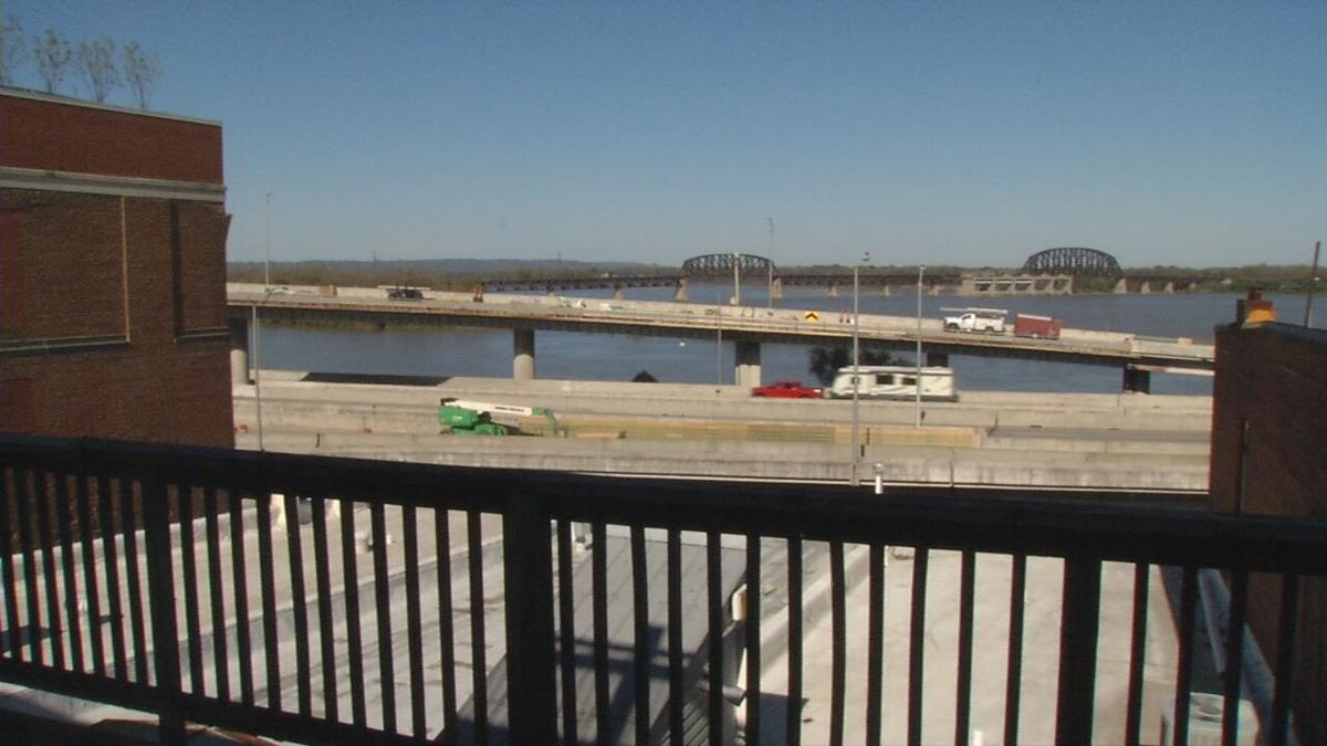 View of the Ohio River from the 4th floor of Roots 101 museum