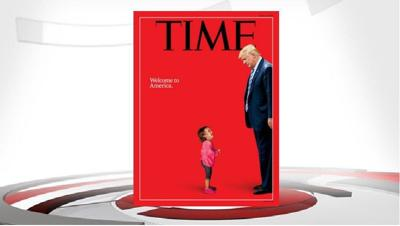 Latest Time cover features Trump and iconic crying migrant child