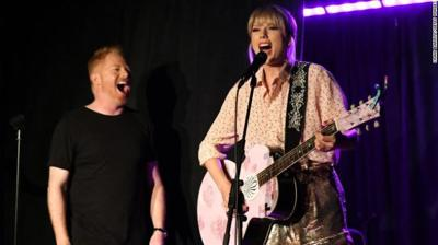 Taylor Swift performs at Stonewall Inn