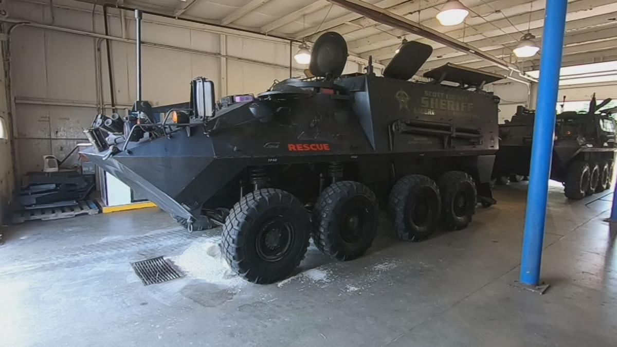 Scott County Sheriff's Department receives two Light Armored Vehicles
