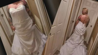Ariahna Aubrey - Disgruntled Louisville bride surprised to learn she put wedding dress on inside-out